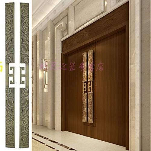 ZTZT Puerta de madera antigua con puerta corredera de vidrio sin marco para tocar la manija de puerta de madera de la puerta de la puerta, 80 * 800 mm: Amazon.es: Bricolaje