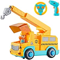 KidPal Take Apart Car STEM Toy Building Set for 3 4 5 Year Old Boy & Girl with Electric Toy Drill and Remote Control...