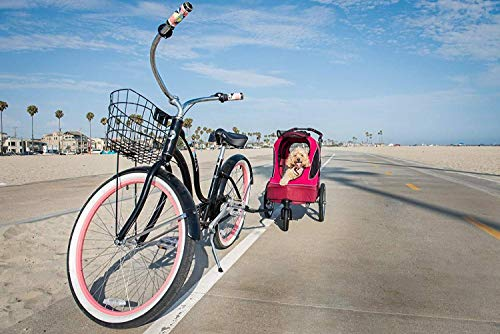 PETIQUE Bike Adapter for All Terrain Jogger Pet Stroller Bike Adapter, Black, One Size (BA01000000) 4