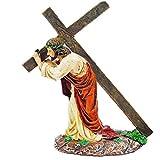 Aisoway Jesús Cruz Adornos Llevar Los Artículos Cruz Estatua Resina Figuras Religiosas...
