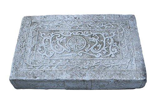 Asien Lifestyle Marmorstein Tafel mit 2 Drachen