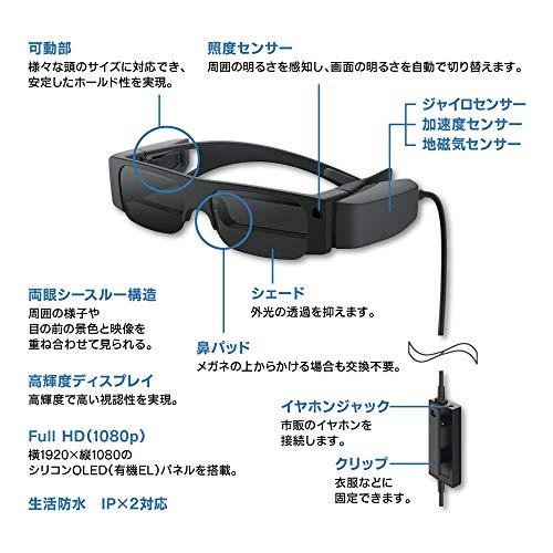 エプソンMOVERIOスマートグラス有機ELパネルFullHDBT-40コントローラーなしモデル