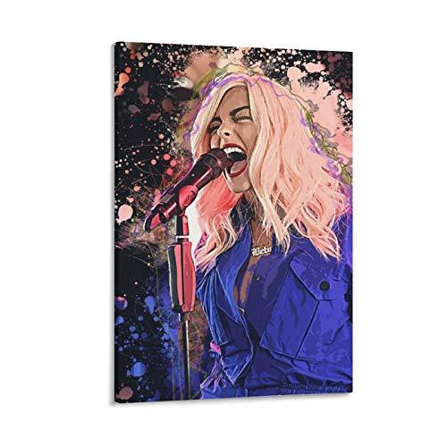 haocaitou BebeS Rexha Pop Singer Music - Lienzo decorativo para pared (50 x 75 cm)