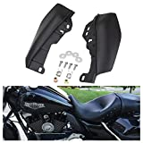 A & UTV PRO Mid Frame Air Deflectors, 2017-2020 Smoke Heat Shield Trim Seat Cover Compatible with Harley Davidson Touring Electra Street Glide Trike Road King Accessories