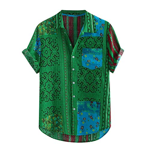 camicia donna hawaiana manica lunga Camicia Uomo Slim Fit Camicia Hawaiana Uomo Uomo Button Down Shortsleeve Uomo Camicie Uomo Maniche Corte Camicia Jeans Uomo ( XL