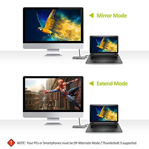 Omars Docking Station, USB C Hub 9 in 1 mit 4K HDMI, RJ45 Gigabit Ethernet LAN, 3 USB 3.0, Typ C 60W PD, SD/TF-Steckplatz, 3,5 mm AUX Audio, Multiport-Adapter für MacBook Pro Mehr Type C Geräte