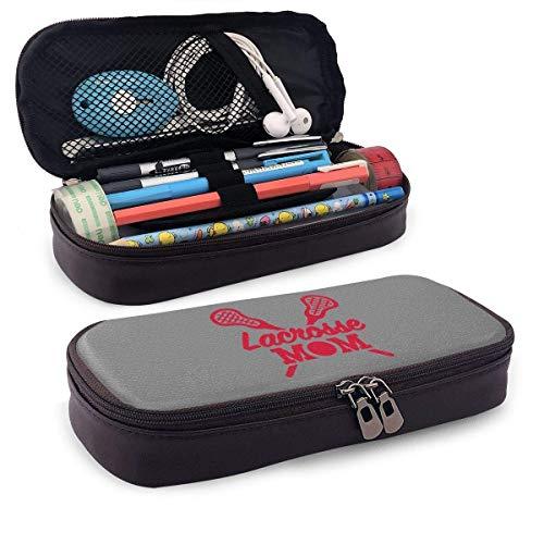 YaxinduobaoWork - Estuche de piel sintética, utensilios de arte, bolsa con cremallera, estuche portátil de piel lacrosse mamá para estudiantes, estuche de papelería, monedero, neceser multiuso