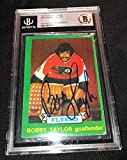 Bobby Taylor Signed 1973-74 O-pee-chee Flyers Rookie Card Beckett 00012520849 - Football Slabbed Autographed Rookie Cards. rookie card picture