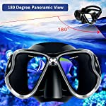 Karvipark Dry Snorkel Set,Anti-Fog Scuba Diving Mask,Panoramic Wide View Diving Goggle,Easy Breathing and Professional Snorkelling Gear for Adults and Kids