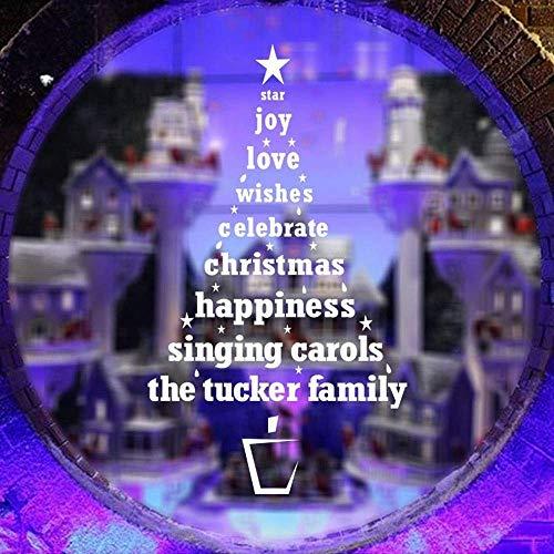 NLRHH Weihnachtsstern Freude Liebe Weihnachten Sterne VE Wandaufkleber Wohnzimmer Fenster DIY (Farbe: Weiß, Größe: 40 * 58 cm) Peng (Color : White)