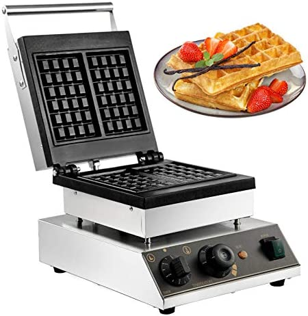 VBENLEM Commercial Waffle Maker 2Pcs Nonstick 2000W Electric Muffin Machine Stainless Steel product image