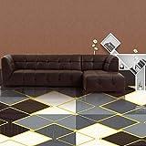 JLDN Tapis Shaggy, Tapis Salon Antidérapant Tapis de décoration Lavable en Machine Tapis pour Salon Canapé Chambre Décor,B_1.4x2m/4x6ft