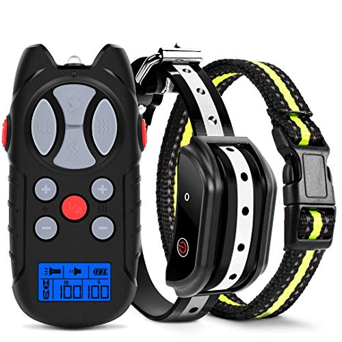 Flittor Shock Collar for Dogs, Dog Training Collar, Rechargeable Dog Shock Collar with Remote, 3 Modes Beep Vibration and Shock Waterproof Bark Collar for Small, Medium, Large Dogs¡­