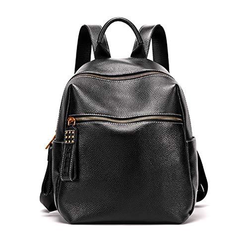 TEBIEAI Damen Rucksack Handtaschen Elegant Anti Diebstahl Frau Stadtrucksack Henkeltaschen Tagesrucksack TEDE83021 Schwarz