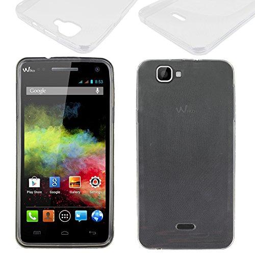 ebestStar - kompatibel mit Wiko Rainbow Hülle Rainbow 4G Handyhülle [Ultra Dünn], Premium Durchsichtige Klar TPU Schutzhülle, Soft Flex Silikon, Transparent [Phone: 146 x 74 x 10mm, 5.0'']