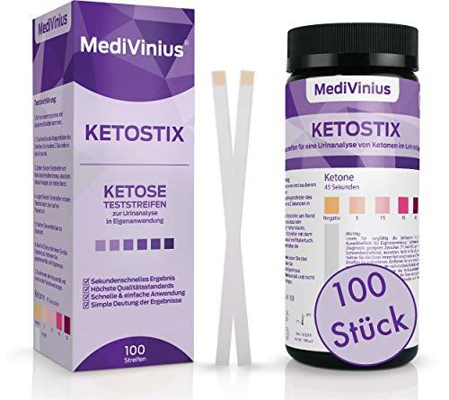 KETOSTIX® 100 Stück für sofortige Ketose Messergebnisse I Keton Teststreifen für die effektive Keto Ernährung und Diät I Ketosticks, Keton Sticks Urin
