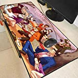 Ace Attorney New Years Anime RGB Mouse Pad Gamer Led Computer Mousepad Big Mouse Mat Desk Mat Mause Carpet Dropshipping-NO LED 400X900X3MM