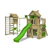 FATMOOSE Kletterturm CrazyCat Comfort XXL Spielturm Baumhaus mit Schaukel und Rutsche, Turmanbau,...