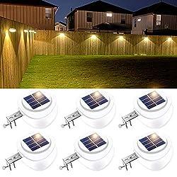 top rated Solar fence lights, 9 LED gutter lights, waterproof garden eaves safety lights … 2021