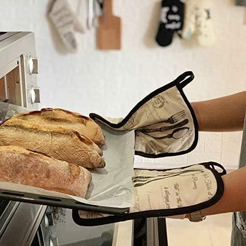 HelpCuisine/® Premium Qualit/ät hitzeschutz Doppelofenhandschuhe Professionelle aus Baumwolle