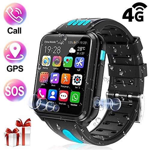 ZLI Kids Smart Watch, angeschlossene wasserdichte Smartwatch mit 4G SIM / 2 Kamera / GPS LBS Tracker / Spiele / SOS Telefon / Alarm / Elektronischer Zaun für Girl Boy Geschenk, Blackb, 32G