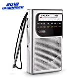 MEKBOK AM FM Pocket Radio, AM FM Mini Radio Portable with Superior Reception and Clear Sound, Battery Operated Pocket Radio with 3.5mm Headphone Jack