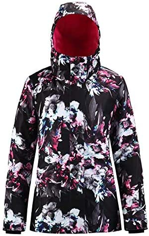 Womens Ski Jacket Waterproof Windproof Ski Suit Womens Warm Winter Print Snowboarding Snow Jackets Coat