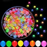 50pcs Multicolor LED Balloon Light, JJGoo Round Led Flash Ball Lamp for Paper Lantern Balloon Birthday Party Wedding Decoration