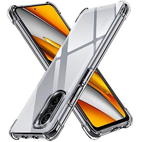 ivoler Klar Silikon Hülle für Xiaomi Poco F3 5G / Xiaomi Mi 11i mit Stoßfest Schutzecken, Dünne Weiche Transparent Schutzhülle Flexible TPU Durchsichtige Handyhülle Kratzfest Case Cover