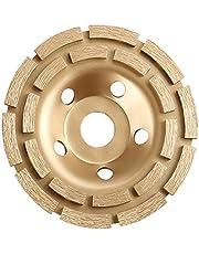 Muela de copa de diamante,muela de hormigón de doble hilera de 125 * 22 mm, para granito,piedra natural,piedra,mampostería,rueda de sección de diamante universal dorado.