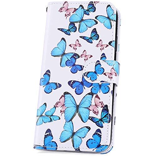 JAWSEU Compatible avec Galaxy A40 Coque Portefeuille PU à Rabat Housse de Protection, Mode Marbre Motif Ultra Mince Leather Wallet Case Stand Magnétique Flip Cover,#2