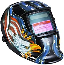 KKmoon Arc Tig Mig Grinding Eagle, Máscara de soldador de soldador de oscurecimiento automático solar, negro