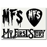 絵柄だけ残る ステッカー M 「MFS」 黒 075B