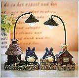 YHX Juego De 2 Lámparas De Noche Vecinas Totoro Creative Studio Ghibli Lámparas De Noche para Niños Regalos De Niña Lámpara De Decoración De Juguetes para El Hogar