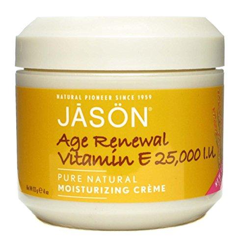 Jason Moisturizing Creme Vitamin E Age Renewal Fragrance Free - 25000 Iu 120 ml (Pack of 4)