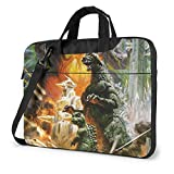Godzilla Vs Mechagodzilla Laptop Bag Multi-size Briefcase Shoulder Messenger Bag Water Repellent Laptop Bag Satchel Tablet Bussiness Carrying Handbag Laptop Sleeve for Women and Men
