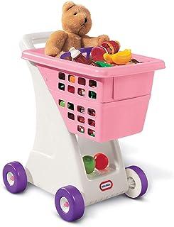 スーパーマーケットの買物車のおもちゃ 子供の遊び場のベビーカーのおもちゃ 男の子と女の子のロールプレイングおもちゃ 親子の対話型教育玩具 3-7歳の贈り物 (Color : Pink, Size : 43*32*58cm)