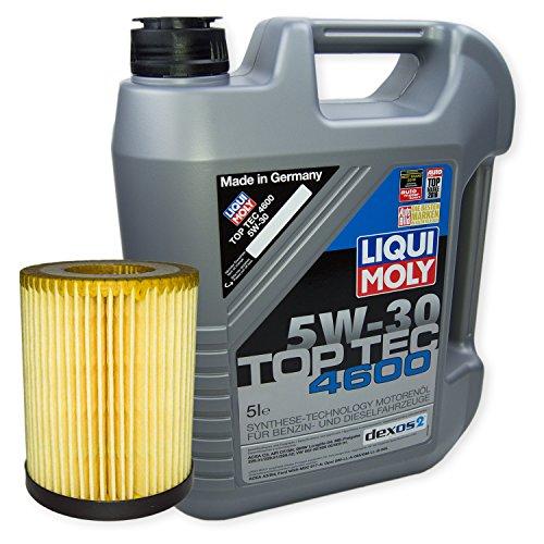 LIQUI MOLY Top Tec 4600 5W-30 3756 + MANN FILTER Ölfilter HU 712/8 x