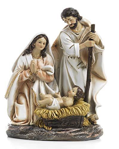 Paben Artículos religiosos Grupo Natividad Belén de Resina cm. 19,7