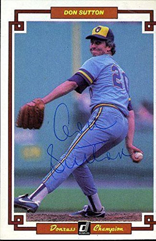 Don Sutton Signed Cert Sticker 1984 Donruss Autographjsa