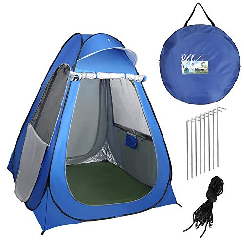 Large Portable Pop Up Pod, Foldable Instant Privacy Tent Changing Room Outdoor Shower Tent - Waterproof Lightweight Sturdy Easy Set Up Camping Toilet - - with Carry Bag, 150x150x190cm