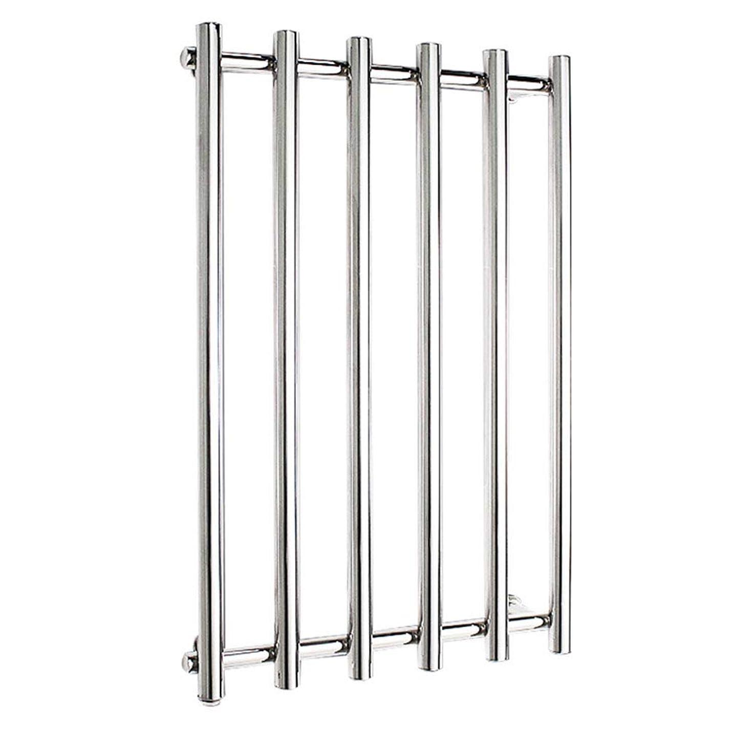 プレゼンターソーセージいつでも304ステンレス鋼電気タオルラジエーター、壁掛け式電気タオルウォーマー、バスルームハードウェアアクセサリー、ポリッシュクローム、恒温乾燥、810x540x110mm