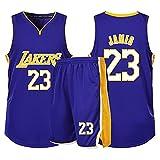 Xin Hai Yuan Conjunto de jersey de baloncesto para niño, 23 #, uniforme de baloncesto para hombre, chaleco de secado rápido, pantalones cortos para entrenamiento, XS-5XL, morado, XS