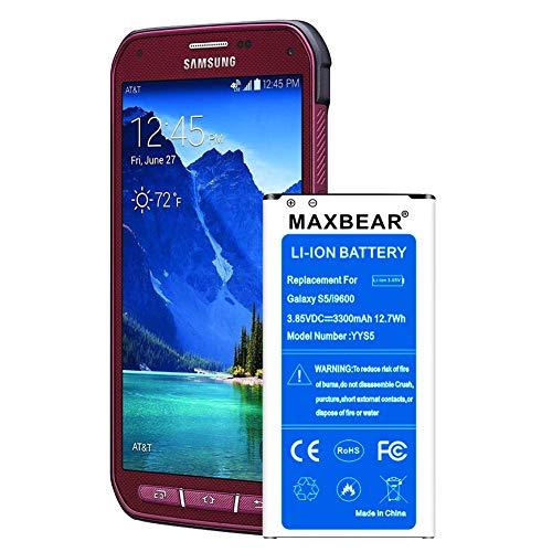 Galaxy S5 Active Battery,MAXBEAR [3300mAh] Replacement Li-Ion Battery...