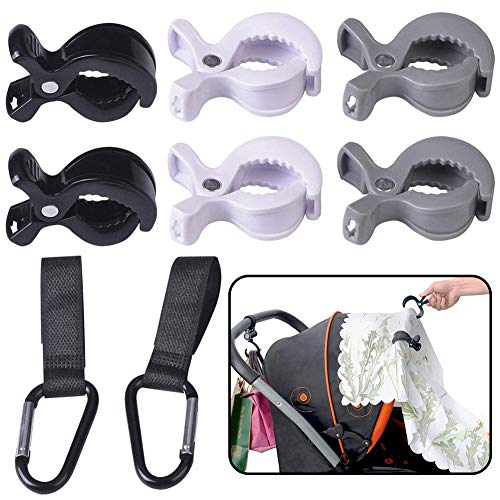 BESLIME 6pcs Stroller Pegs+2pcs Buggy Clips