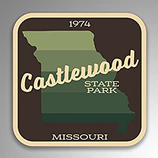 JMM Industries Castlewood State Park Missouri Vinyl Decal Sticker Retro Vintage Look 2-Pack 4-inches by 4-inches Premium Quality UV Protective Laminate SPS045