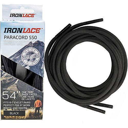 Ironlace Standard Paracord Midnight Black 45quot