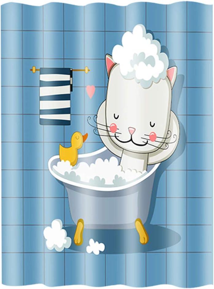 5 ☆ very popular Cartoon Shower Curtain Kid Bathroom with Sh Cute Challenge the lowest price of Japan ☆ Hooks