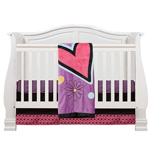 One Grace Place Sassy Shaylee Infant Crib Bedding Set, Black/Purple by One Grace Place