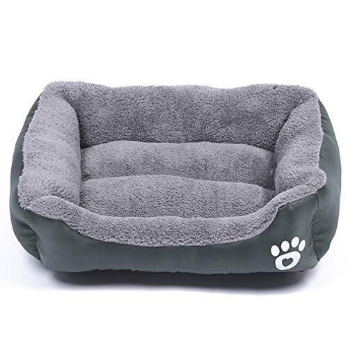 YLWL Huellas de Felpa Nido para Mascotas Perrera para Mascotas Gato Nido para Perros cálido Suave cojín de Cama para Dormir para Mascotas casa para Perros Perrera (Gris S 45 * 40 cm)